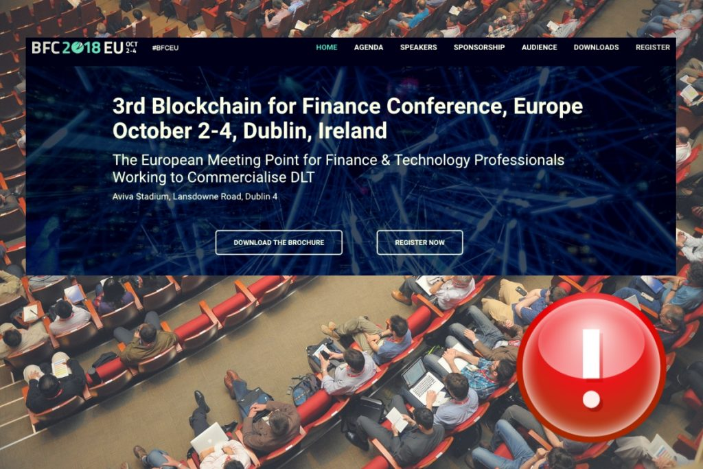 Fintech finance and blockchain conference