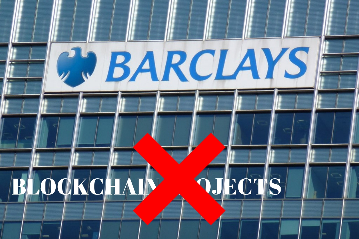 Barclays cancel blockchain projects
