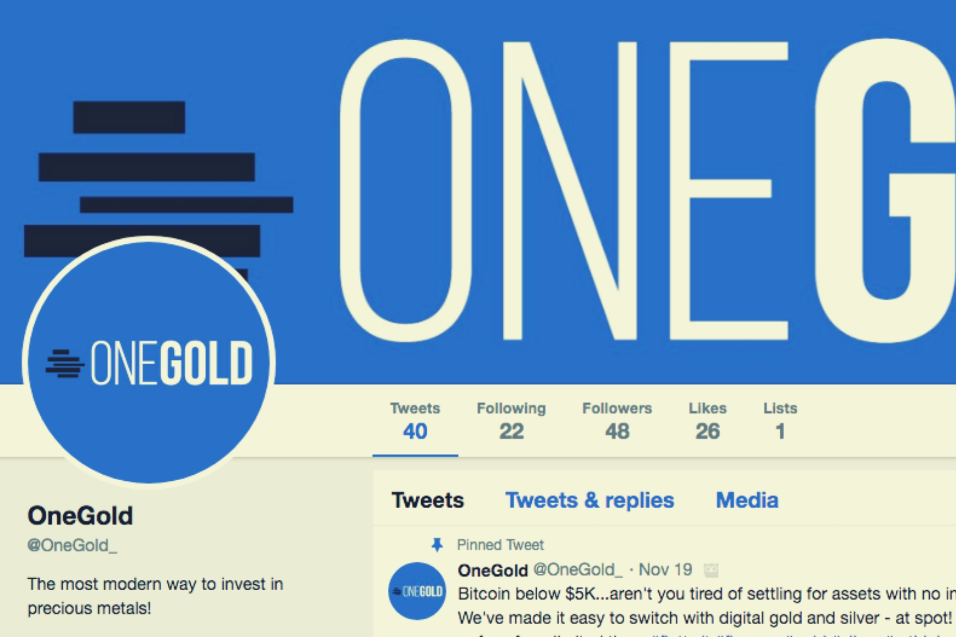 Onegold has Announced Support for Bitcoin Cash (BCH) and Bitcoin