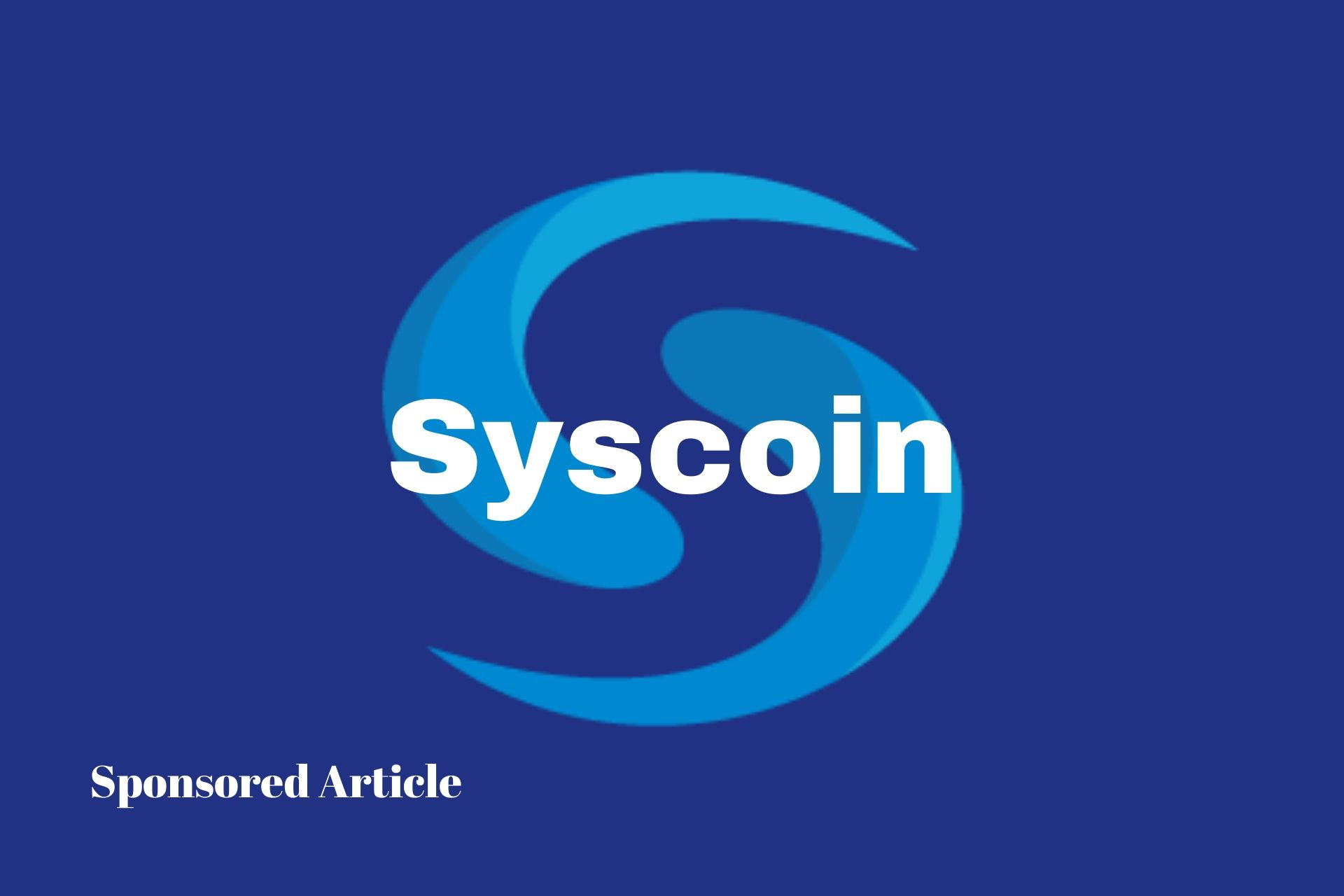 Syscoin article new